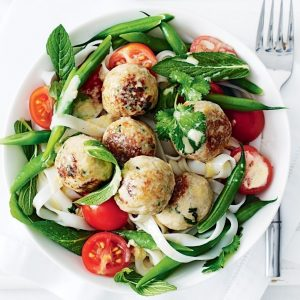 Creamy Thai coconut-chicken meatballs