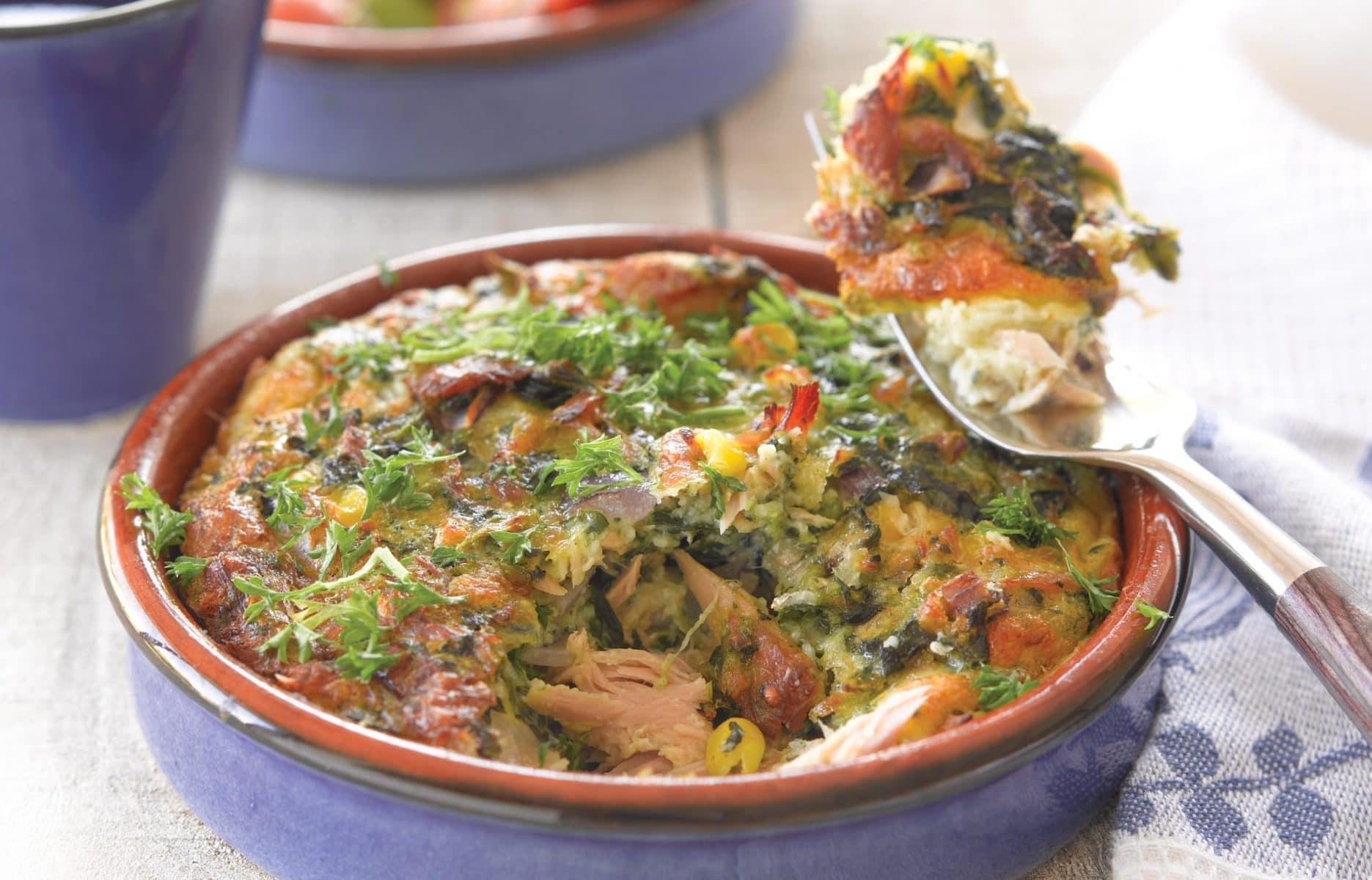 Crustless tuna quiche