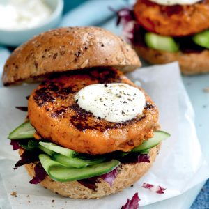 Curried bean burgers
