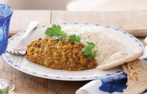 Curried red lentil dhal