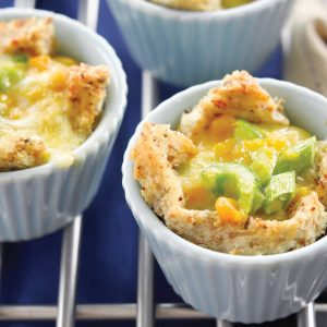 Easy corn and capsicum quiches