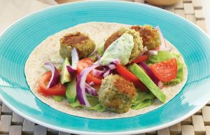 Falafel salad wraps