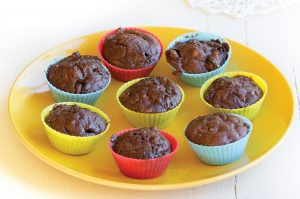 Finlay and Zoe's chocolate courgette muffins