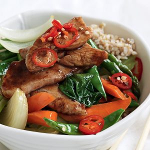 Five-spice chicken and vege stir-fry