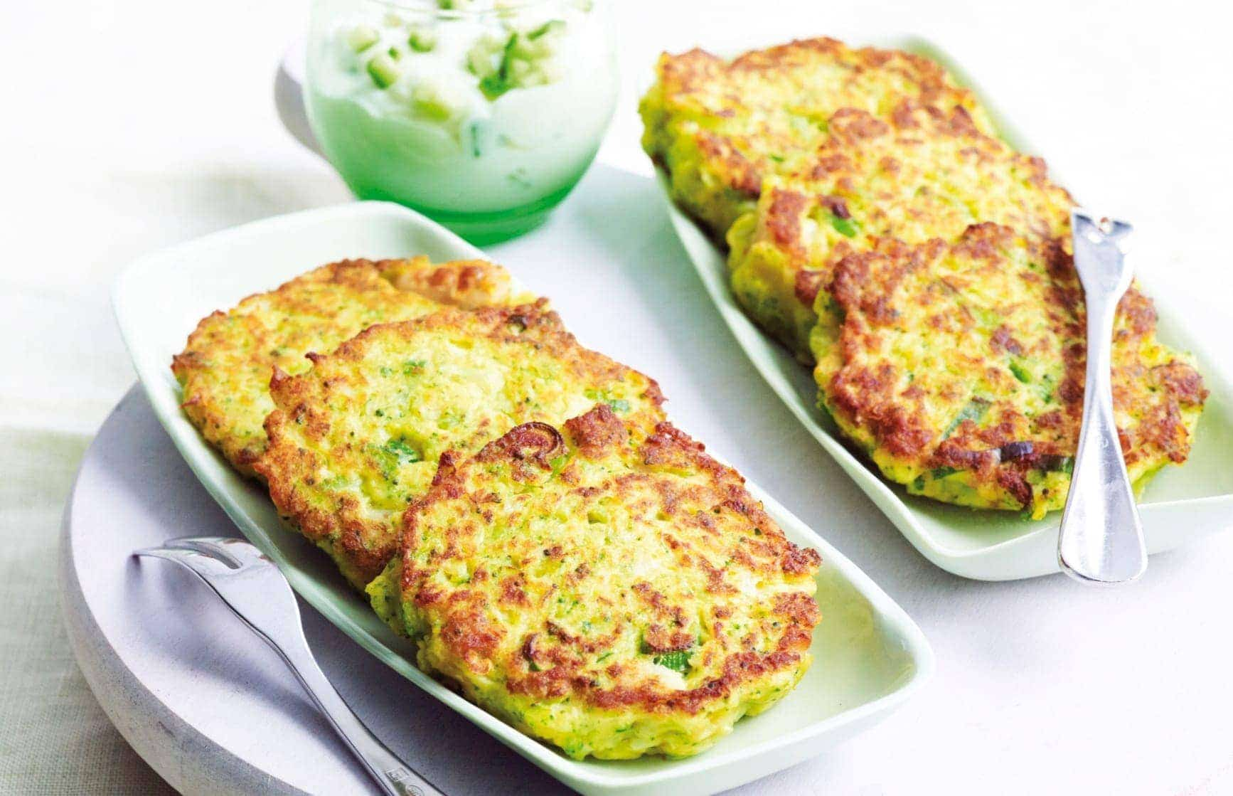 Floret fritters with tzatzaki - Healthy Food Guide
