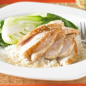 Fragrant poached chicken