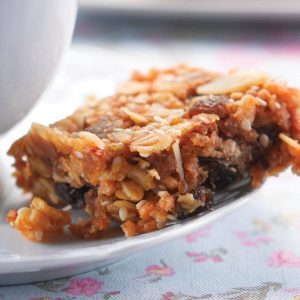 Fruit and nut muesli slice