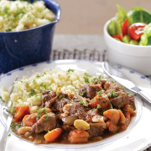 Fruited lamb casserole