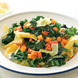 Garlic and chilli kale pasta
