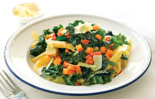 Garlic and chilli kale pasta