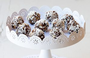 Ginger and coconut balls