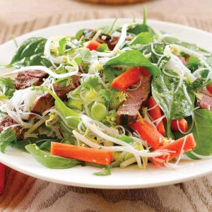 Glass noodle beef salad
