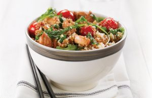 Glazed chicken with couscous