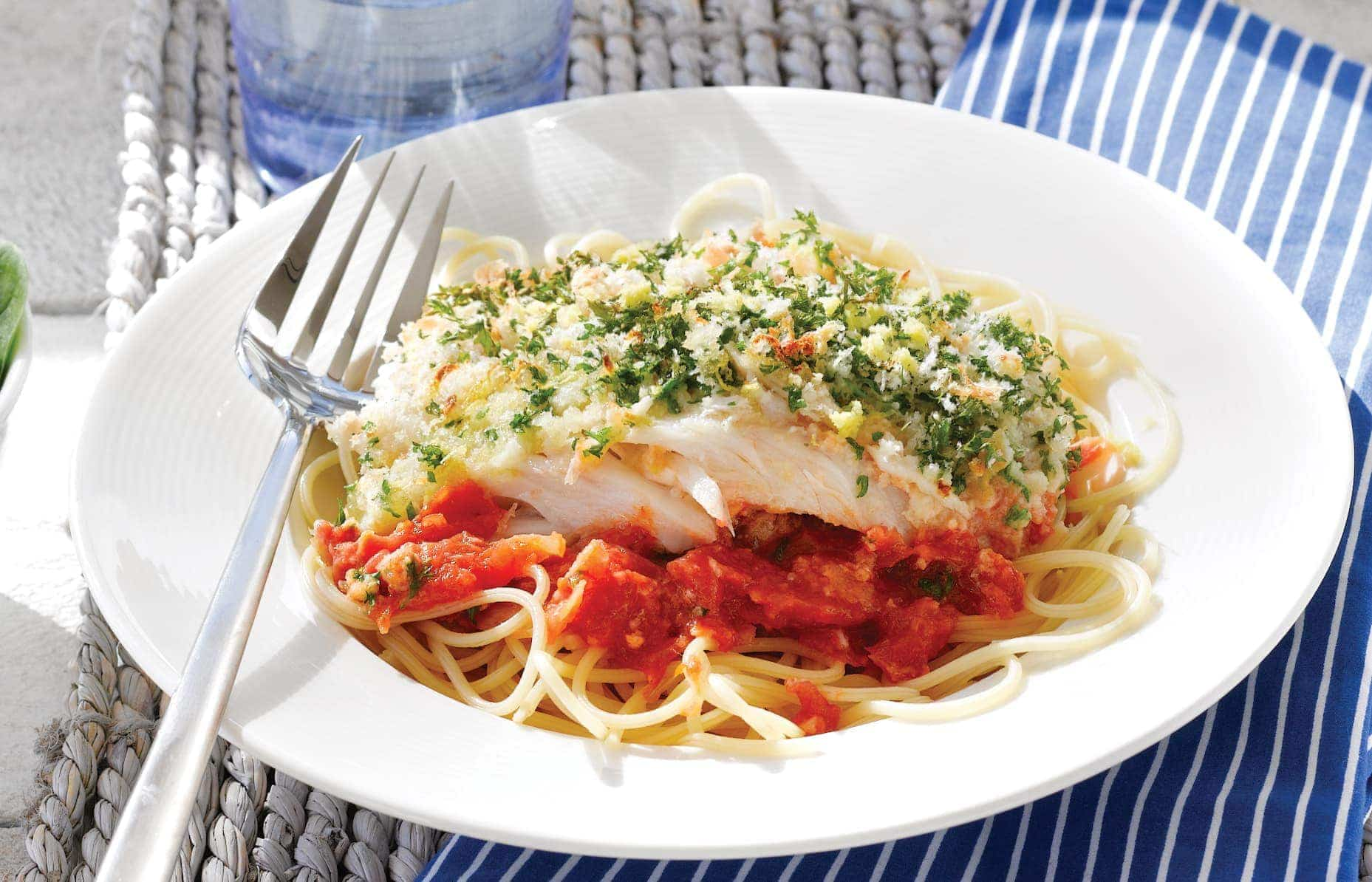 Greek-style baked fish