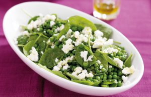 Greens with goats' cheese