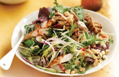 Grilled chilli chicken with green mango salad