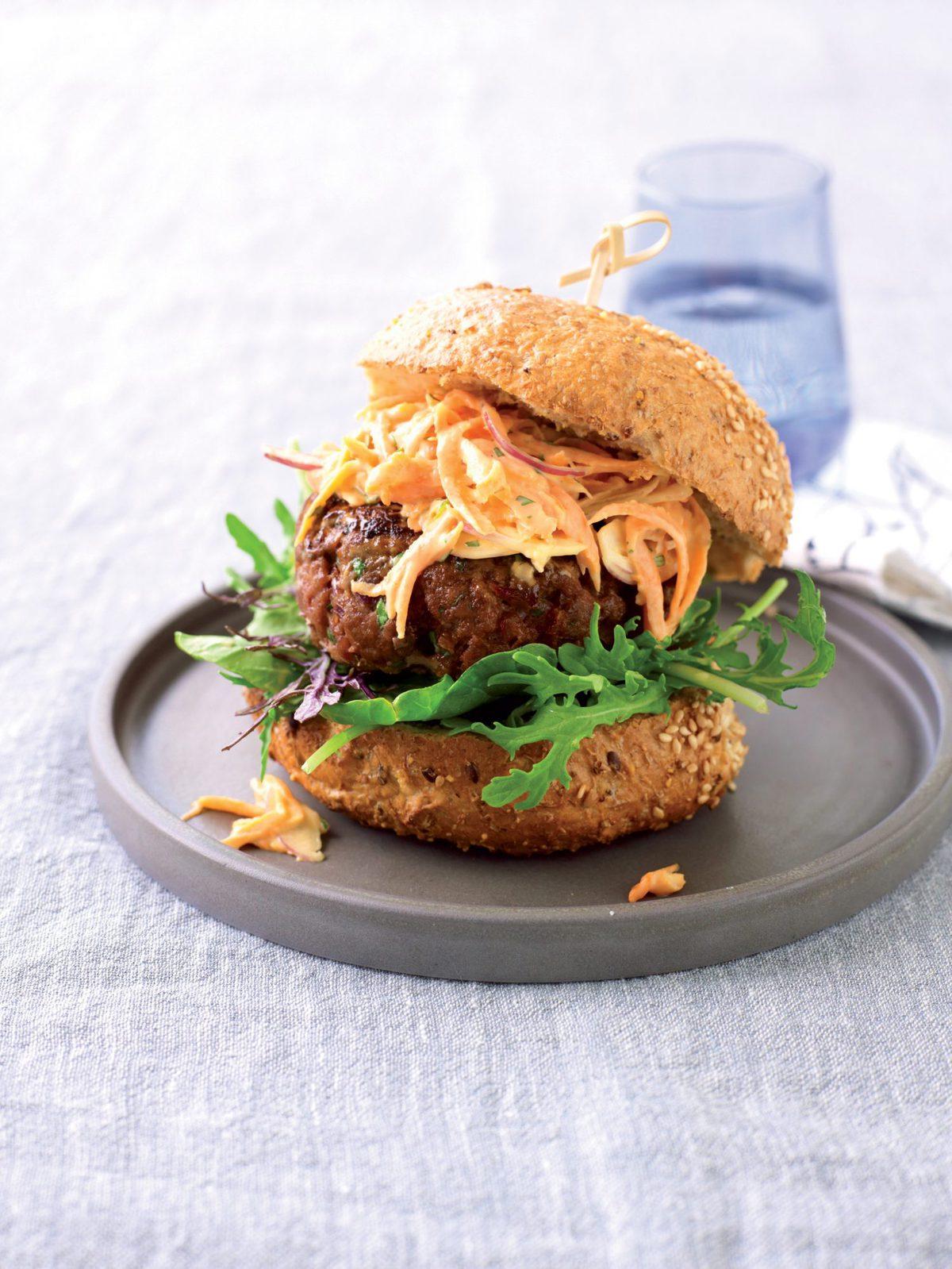 Thai beef burger