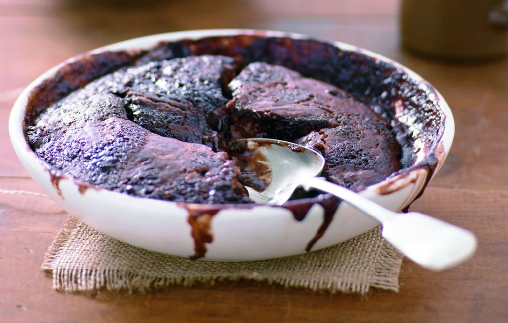 HFG chocolate self-saucing pudding