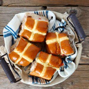 Gluten-free hot cross buns (sponsored)