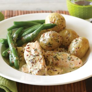Herb and mustard baked chicken