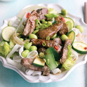 Hoisin beef noodle salad