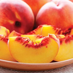 In season late summer: Peaches