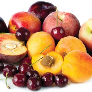 In season late summer: Stone fruit