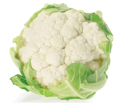 In season early winter: Cauliflower