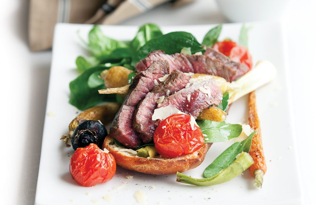 Italian steak salad stack