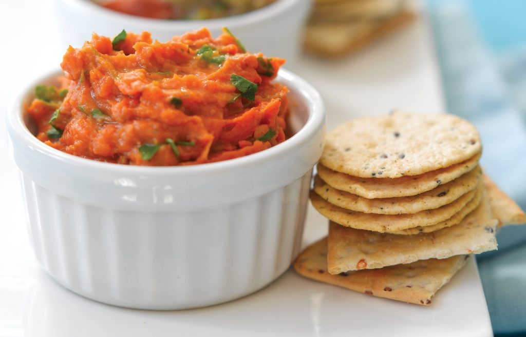 Kumara and sun-dried tomato dip