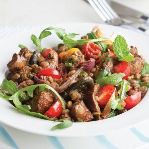 Lamb lentil salad