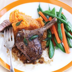 Lamb with sage and kumara mash