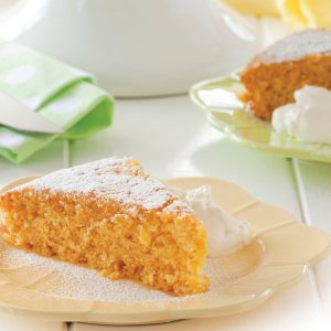 Lemon and lime polenta cake