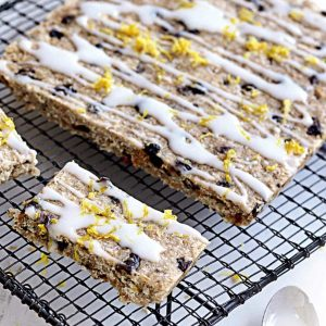 Lemon and sultana slice