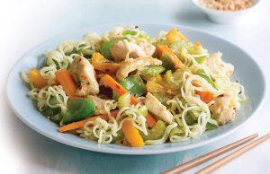 Lemon chicken noodle salad