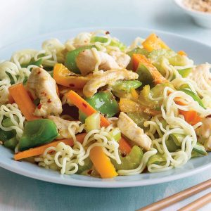 Lemon chicken noodle salad