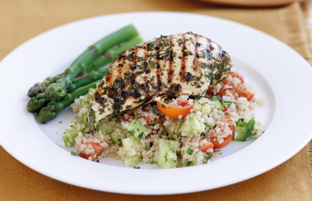 Lemon chicken with quinoa salad