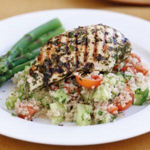 Lemon chicken with quinoa salad