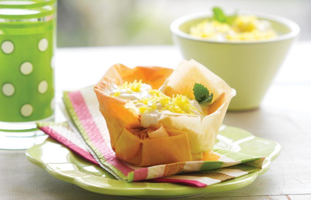Lemon filo tarts
