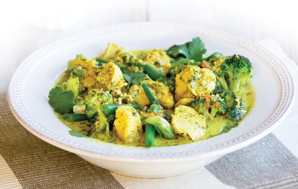 Low-FODMAP Thai-style chicken curry