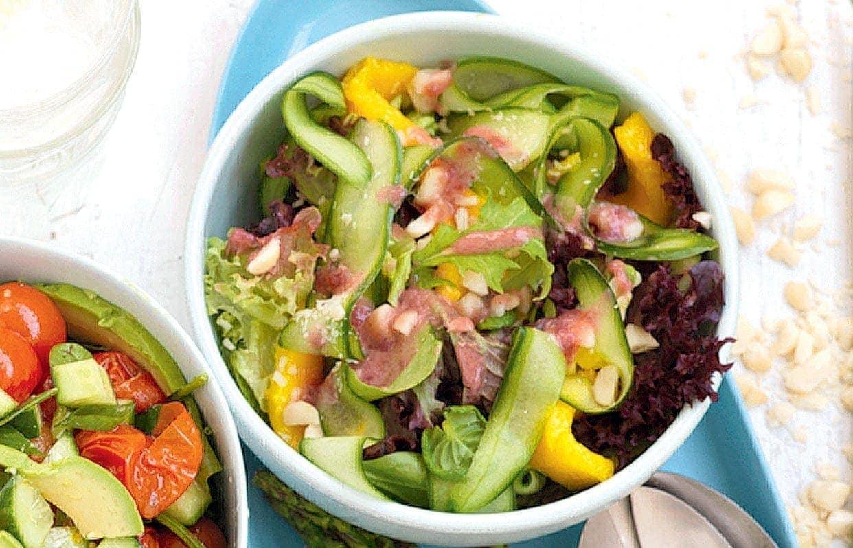 Mango and macadamia salad