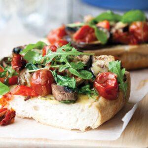 Mediterranean-style vege flatbreads