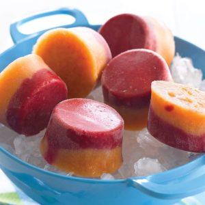 Melon berry pops