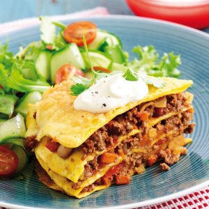 Mexican mince stack