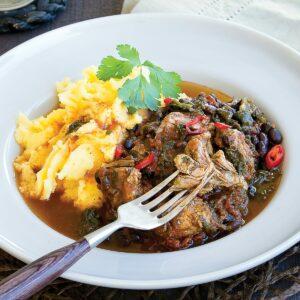 Mexican pork and bean stew