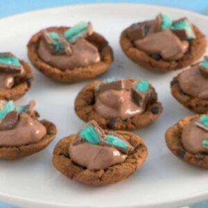 Mint chocolate mini-tarts