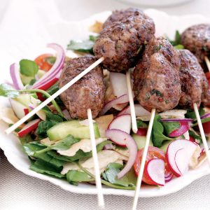 Moroccan lamb koftas and Turkish chopped salad