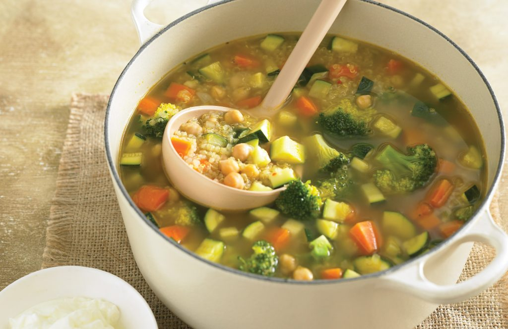 Moroccan quinoa and vegetable soup