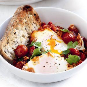 Moroccan-spiced eggs
