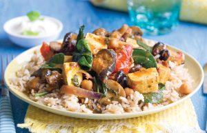 Mushroom and tofu curry